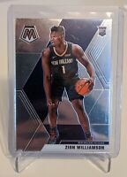 2019-20 Panini Mosaic #209 Zion Williamson Rookie Card Base RC Pelicans **READ**