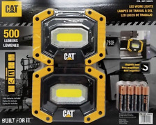 NEW 2 Pack CAT LED Work Lights 500 Lumens Magnetic Base Rugged & Rotating Handle