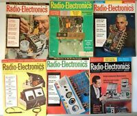 Lot of 6 Radio Electronic Magazines 1962 - 1963