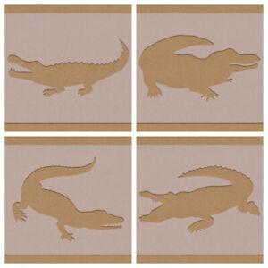 Crocodile Reptile Stencil mixed designs and sizes crafting craft decorating