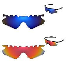 New Walleva Polarized Fire Red+ Ice Blue Vented Lenses For Oakley M Frame Heater