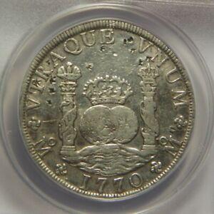 1770/60 FM 8 Reales:   ANACS VF30:   Mexico City Mint