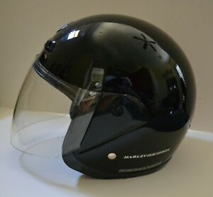 Harley Davidson Helmet with Face Shield - DOT Size S -Small  Black Includes Bag