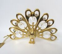 Ornament/Figurine- PEACOCK   24k gold plated- Austrian crystals --clear
