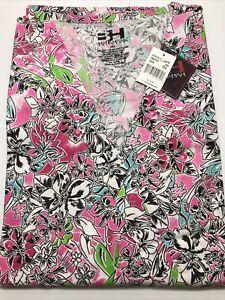 Beverly Hills Uniforms Plus Size Scrub Top, Style #501W, Print #699, 3XL-5XL