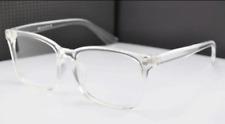 NEW CRYSTAL CLEAR Glasses Frames Plastic Eyeglasses Unisex Eyewear Transparent