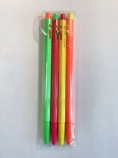 4pcs/set Cute Gel Pen Black Ink Pens Kawaii Stationery School Office Supply