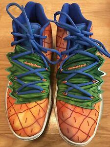 NIKE NICKELODEON  Sponge Bob Pineapple Sneakers. CJ6951-800 Size 8.5 Kyrie 5