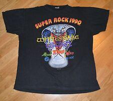 RaRe *1990 AEROSMITH -WHITESNAKE- DIO* vtg concert shirt XL 80's The Front Vixen