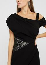 MONSOON - OCTAVIA SEQUIN INSERT MAXI DRESS - BLACK - Size 18 (BNWT)