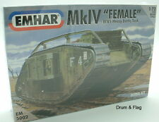"EMHAR 5002. MkIV ""FEMALE"" WW1 HEAVY BATTLE TANK. 1:72 SCALE PLASTIC KIT"
