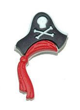 FUN BLACK & RED & WHITE PIRATE HAT TIE PIN TACK (086)