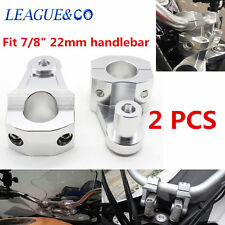 2X 22MM HandleBar Handle Fat Bar Mount Clamps Riser Kits For BMW KTM Ducati z