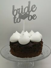 Silver Glitter Bride To Be Wedding Party Cake Topper Food Pick Hen Night Party