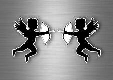 2x sticker angel cupidon arrow bow love macbook car scooter motorcycle r1
