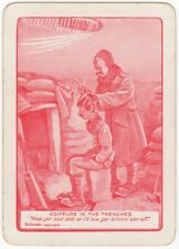 Playing Cards 1 Swap Card Old Antique Wide Bairnsfather WW1 OLD BILL Trenches 1