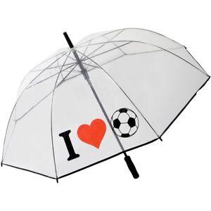 Regenschirm transparent Fußball Fussball Golfschirm Schirm durchsichtig Football