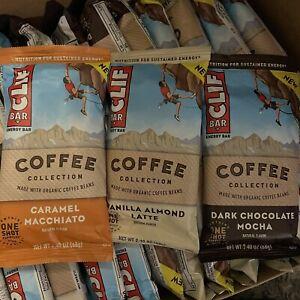 53 CLIF Bar Protein Vanilla Almond Latte Coffee Lot Dark Chocolate Mocha Caramel