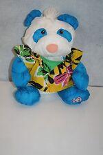 VTG RARE FisherPrice Puffalump Panda Bear Blue Wild Thing w/Hawaiian Shirt 1987
