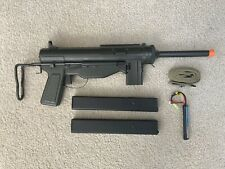 M3A1 Full Steel Grease Gun Airsoft AEG w/ Sling, Battery, and Extra Mag