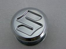 "GSXR 1000 Hayabusa Chrome ""S"" Engraved Exhaust Hanger Rear Peg Plug 99-07-08-17"