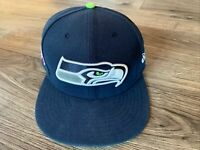 Seattle Seahawks NFL New Era 59fifty Fitted Size 7 3/8 Hat Cap Blue Navy