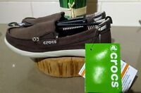 CROCS ESPRESSO & STUCCO CANVAS LOAFER WOMEN'S SIZE 5