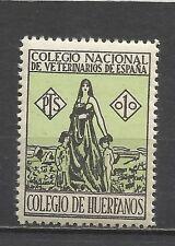 1558-SELLO FISCAL REPUBLICA COLEGIO HUERFANOS VETERINARIOS NUEVO ** 1 PESETA.SPA