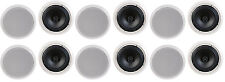 """NEW (12) 8"""" Ceiling In-Wall Speakers Stereo Flush Mount Contractor Business Lot"""