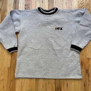 Men's Vintage 90s Kings Cotton FX Network Heather Gray Crewneck Sweatshirt Sz L