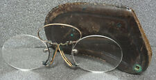 Antique Austrian Doctor Eye Glasses with Original Leather Sheath