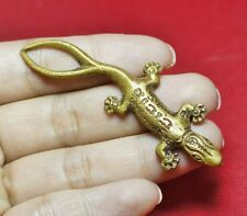 Very Rare 2 Tails Gecko Lizard Thai Buddha Gambler Amulet For Lucky Wealth #R60
