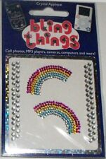 2 Rainbows Crystal Appliqué Cell Phone BLING THING iPhone Sticker iPod Decal