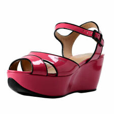"""Salvatore Ferragamo """"My Sandal"""" Leather Platform Sandals Shoes 6.5 7.5 8 8.5 M"""