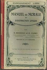 Manuel de Morale Instruction Civique manuel ancien école 1913 enseignement libre