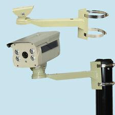 Metal Pole Column Mount Loop Bracket Arm for Security CCTV Network Webcam Camera