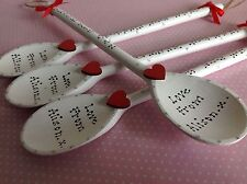 Personalised Wooden Spoon Wedding Favours Bridesmaid Flower Girl Thank You Gift
