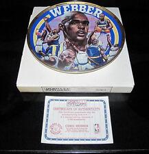 Chris Webber NBA Golden State Warriors Basketball Collector Plate Sports Impress