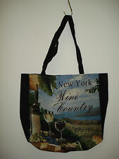 New Mill Street Design Tapestry Canvas Tote Bag New York Wine Country