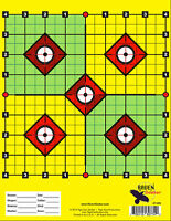 50 Yard .22 cal. RIFLE Shooting Paper Targets - Perfect for Sighting Scope