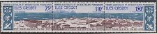 (T3-64)1974 FrenchAntarctic strip of3 Alfred Faure anni