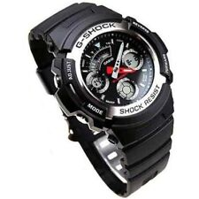 CASIO G-SHOCK AW-590-1A AW590 Black Resin MAN'S World Time Alarms SPORTS WATCH