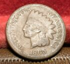 US 1865  Indian Head  One Cent