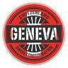 Geneva Switzerland World Flag Stamp Car Bumper Sticker Decal  - 3'' or 5''