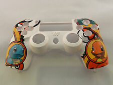 Pokemon Charmander Hydro Dipped Front Face Shell For PS4 Controller  Current gen