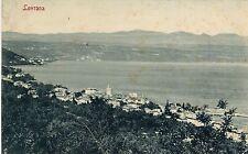 Croatia Lovrana Lovran Istria  - Total View of Sea Shore 1907 sepia postcard