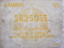 YAMAHA SR250 SE Handbuch Wartungsanleitung  Bj.80