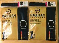 2 Magellan Outdoors Women's Midweight Waffle Baselayer Top Shirt Black Size M