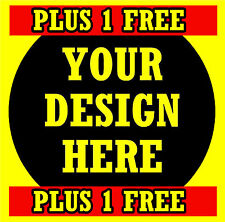 CAR / WINDOW INSIDE STICKERS WITH YOUR OWN DESIGN ++++ PLUS 1 FREE - NEW