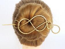 Women Large Metal Celtic Hair Barrette Brass Hair Clip Hair Jewelry Hair Pin